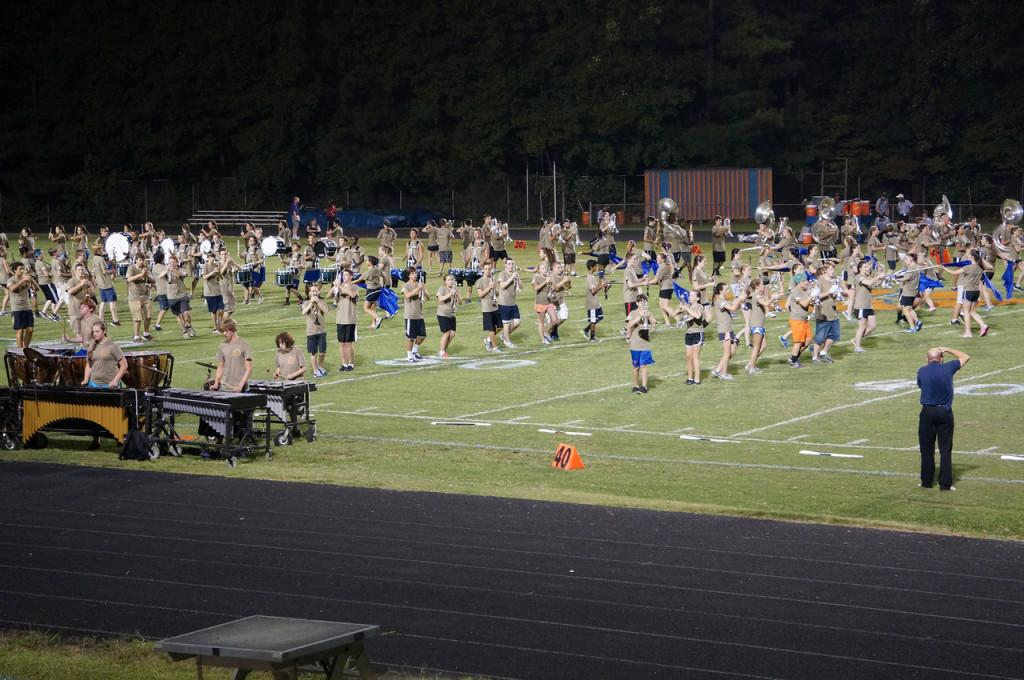 The Athens Marching Band created a new halftime show