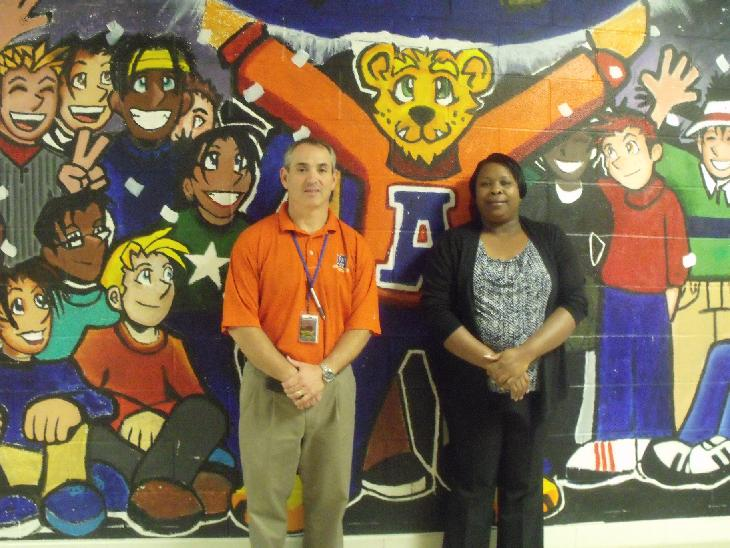 The Athens Drive administration was joined by Steven Katz, left, and Veronica Thompson.
