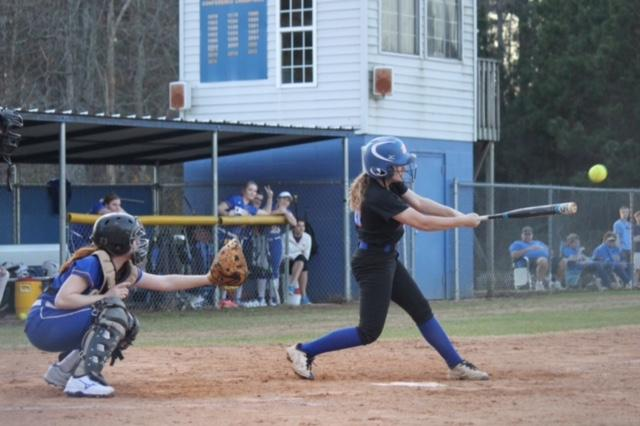 Abigail Bennett at the bat.