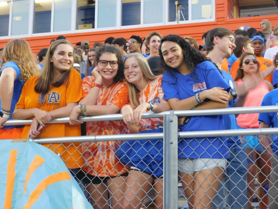Athens students happy to cheer on the game