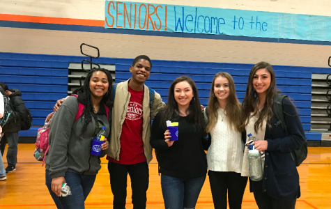 Students celebrate the end of first semester with senior breakfast