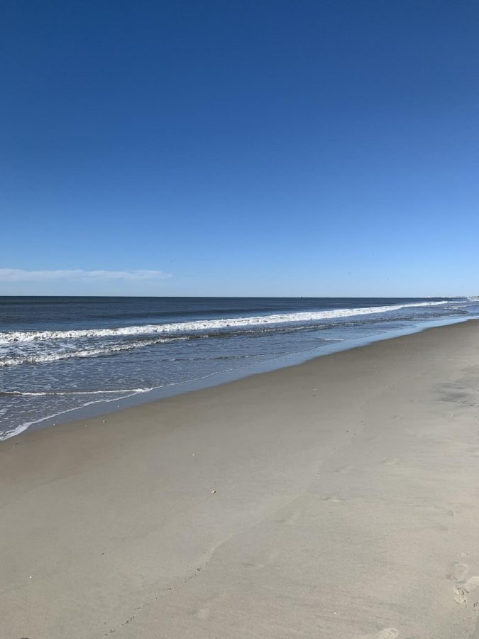 Spending a relaxing day at Atlantic Beach.