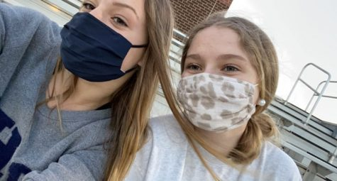 Athens Drive freshmen Blythe Holloway and Lyndsey Delmar have to learn to adapt to a new school while wearing masks and remote learning.