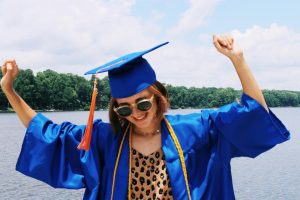 After feeling frustrated with online school, Lili Healey graduates high school a year early, planning to focus on creative endeavors with her year off from school.