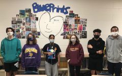 The students of Ms. Surles Creative Writing 2 class are in charge of creating  each issue of Blueprints.