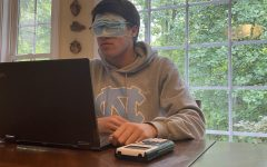 Some teachers have instructed students to wear their mask to cover their eyes to prevent them from cheating off of others' work.