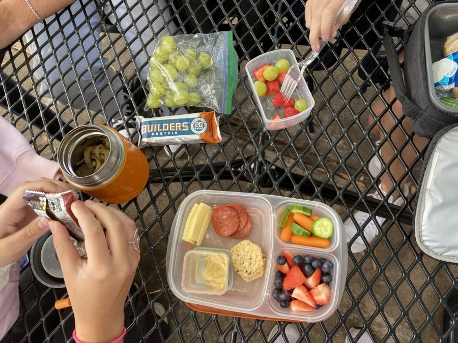 Students eating lunch to fuel their bodies for the rest of the school day at Athens Drive.
