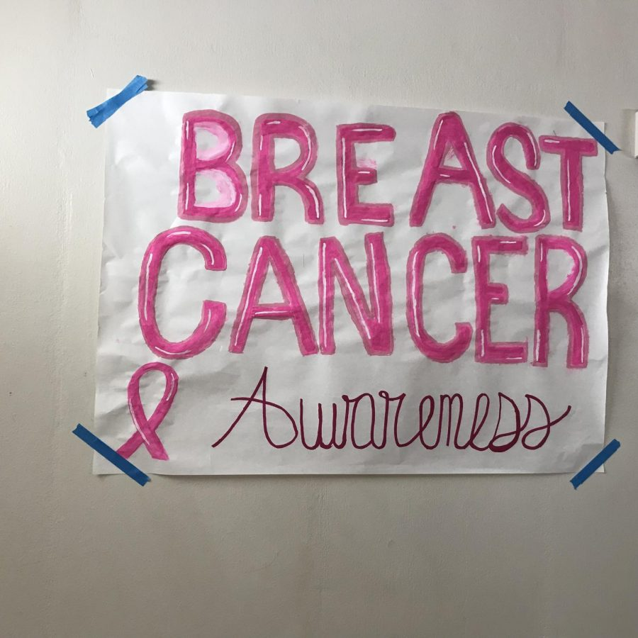 Athens Drive Women's Volleyball teams improve the Athens community, raising breast cancer awareness throughout the hall.